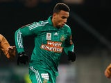 Rapid Wien's Terrence Boyd in action against Wacker Innsbruck on December 9, 2012