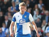 Bristol Rovers' Tom Eaves in action against Northampton during their League Two match on October 6, 2012