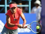 Zhang Shuai in action against Vania King during the final of the Guangzhou Open on September 21, 2013