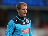 Alex Smithies of Huddersfield in action during the Sky Bet Championship match between Millwall and Huddersfield Town at The Den on August 17, 2013