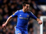 Cesar Azpilicueta of Chelsea runs with the ball during the UEFA Europa League quarter final first leg match between Chelsea and FC Rubin Kazan at Stamford Bridge on April 4, 2013