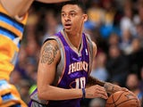 Phoenix Suns' Diante Garrett in action against Denver Nuggets on April 17, 2013