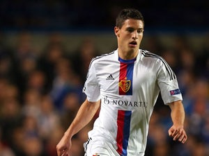 Fabian Schar of FC Basel in action during the UEFA Champions League Group E Match between Chelsea and FC Basel at Stamford Bridge on September 18, 2013