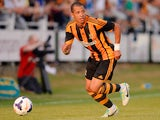Liam Rosenior of Hull City plays the ball during a pre-season friendly between North Ferriby and Hull City at the Eon Visual Media Stadium on July 15, 2013