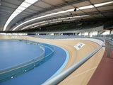 Workmen redevelop the velodrome which was used in the London 2012 Olympic Games prior to the opening of a portion of the park to the general public on April 16, 2013
