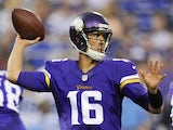 Vikings QB Matt Cassel in action against the Tennessee Titans on August 29, 2013