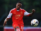 Nathaniel Clyne of Southampton kicks the ball during a friendly match between Southampton FC and UE Llagostera at the Josep Pla i Arbones Stadium on July 17, 2013