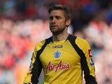 Robert Green of Queens Park Rangers looks on during the Barclays Premier League match between Liverpool and Queens Park Rangers at Anfield on May 19, 2013