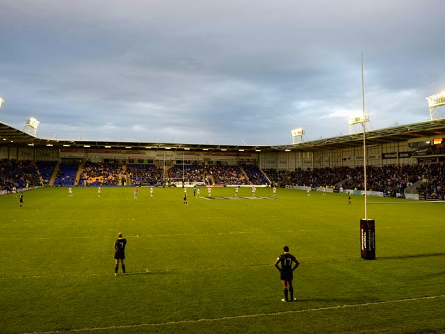 General view of play during the International Origin Match between England and Exiles at The Halliwell Jones Stadium on June 14, 2013