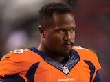Denver's Von Miller on the sidelines on August 24, 2013