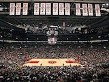 A general view of the court Toronto Raptors face the Indiana Pacers at the Air Canada Centre on October 31, 2012