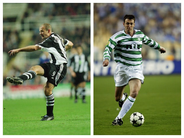 A collage of former Blackburn Rovers strikers Alan Shearer and Chris Sutton.
