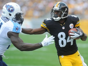 Steelers receiver Antonio Brown in action against the Tennessee Titans on September 8, 2013