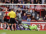 Mark Bradley of Rotherham United scores the opening goal during the Sky Bet League One match between Brentford and Rotherham United at Griffin Park, on October 05, 2013