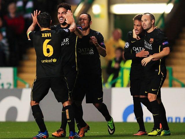 Result: Barcelona edge past 10-man Celtic