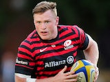 Saracens' Chris Ashton in action against Cornish Pirates on August 22, 2013