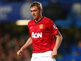 Manchester United's Darren Fletcher in action against Chelsea during their League Cup match on October 31, 2012