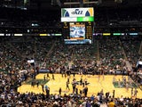 general view of EnergySolutions Arena before Game Three of the Western Conference Quarterfinals between the San Antonio Spurs and the Utah Jazz during the 2012 NBA Playsoffs at EnergySolutions Arena on May 5, 2012
