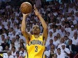 George Hill of the Indiana Pacers in action against Miami Heat on June 3, 2013