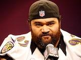 Baltimore's Haloti Ngata talks to the press on Super Bowl Media Day on January 29, 2013