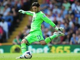 Spurs 'keeper Hugo Lloris in action against Crystal Palace on August 18, 2013