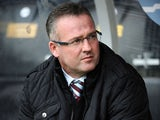 Paul Lambert, manager of Aston Villa during the Barclays Premier League match between Hull City and Aston Villa at KC Stadium on October 5, 2013