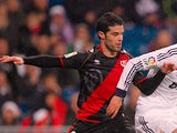 Rayo Vallecano's Jose Manuel Casado in action against Real Madrid during their La Liga match on February 17, 2013