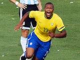 Brazil forward Julio Baptista celebrates his goal during their Copa America Venezuela-2007 final match against Argentina on July 15, 2007