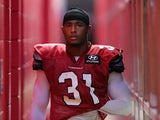 Cardinals' Justin Bethel walks out at the club's training camp on July 29, 2013