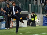 Head coach of Juventus Antonio Conte reacts during UEFA Champions League Group B match between Juventus and Galatasaray AS at Juventus Arena on October 2, 2013