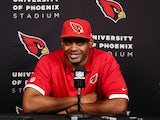 Arizona linebacker Karlos Dansby talks to the press on May 10, 2013
