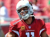 Arizona Cardinals' Larry Fitzgerald in action against Tampa Bay Buccaneers on September 29, 2013