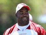 Arizona Cardinals player Levi Brown at team practice on June 13, 2012