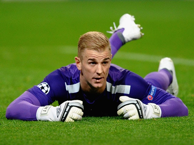 Joe Hart of Manchester City shows his dissapointment during the UEFA Champions League Group D match between Manchester City and FC Bayern Munchen at Etihad Stadium on October 2, 2013