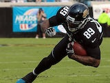 Jacksonville Jaguars' Marcedes Lewis in action against New England Patriots on December 23, 2012