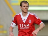 Aberdeen's Mark Reynolds in action against FC Twente during a friendly match on July 28, 2013