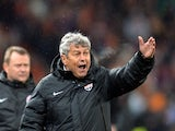 Shakhtar coach Mircea Lucescu on the sidelines against Manchester United on October 2, 2013
