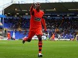 Bolton's Neil Danns celebrates a goal against Birmingham on October 5, 2013