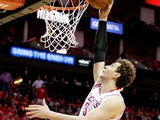 Houston Rockets' Omer Asik in action against Oklahoma City Thunder on April 29, 2013