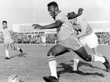 Pele in action for Brazil in May 1960.