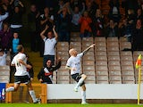 Lee Hughes of Port Vale celebrates his goal during the Sky Bet League One match between Port Vale and Bristol City at Vale Park on October 05, 2013