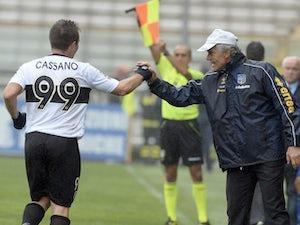 Team News: Cassano dropped by Parma