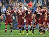 Ciro Immobile of Torino FC celebrates his goal during the Serie A match between UC Sampdoria and Torino FC at Stadio Luigi Ferraris on October 6, 2013