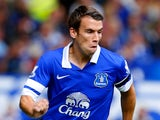 Everton defender Seamus Coleman in action against West Brom on August 24, 2013