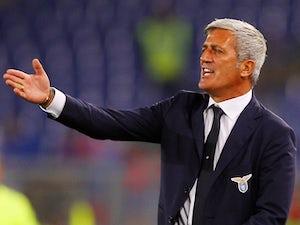 Lazio boss Vladimir Petkovic barks the orders against Catania on September 25, 2013