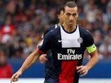 Paris Saint-Germain's Zlatan Ibrahimovic in action against Toulouse on September 28, 2013