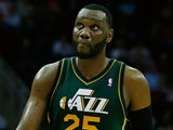Al Jefferson #25 of the Utah Jazz walks across the court during the game against the Utah Jazz at Toyota Center on March 20, 2013