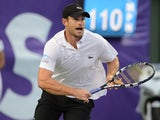 Andy Roddick participates in the inaugural Miami Tennis Cup at Crandon Park Tennis Center on December 2, 2012