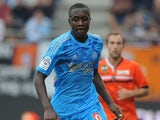 Marseille's French midfielder Giannelli Imbula runs with the ball during the L1 football match between Lorient and Marseille on September 28, 2013