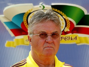Head coach Guus Hiddink of FC Anzhi Makhachkala looks on during the Russian Cup Final match between FC Anji Makhachkala and PFC CSKA Moscow at the Akhmat-Arena Stadium on June 01, 2013